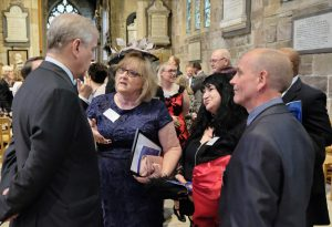 Jackie, Julieann and Ian chat with HRH The Duke of York
