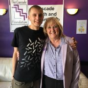 Jackie Hewitt-Main OBE, founder of The Cascade Foundation with Michael Thompson from Rite Trax